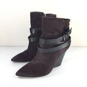 Kenneth Cole 8.5 Tres a Charm Pony Hair Boot Wedge